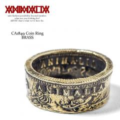 ANIMALIA アニマリア CA1849 Coin Ring -BRASS- animal-ac28 animalia メンズ リング 指輪