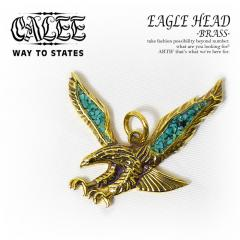 CALEE(キャリー) EAGLE HEAD -BRASS-【CL-17SS012AC】【メンズ アクセサリー ネックレストップ】【送料無料】【CALEE キャリー】