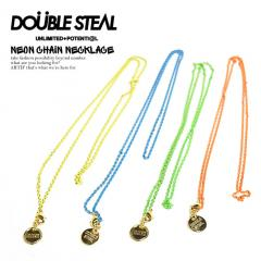 DOUBLE STEAL ダブルスティール NEON CHAIN NECKLACE メンズ ネックレス アクセサリー チェーン ネオンカラー ストリート doublesteal