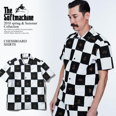 SOFTMACHINE ソフトマシーン CHESSBOARD SHIRTS(PATCH WORK S/S SHIRTS) softmachine 2018 春 夏 メンズ シャツ  送料無料