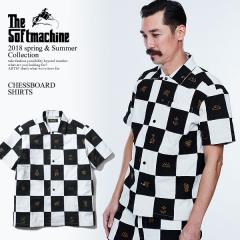 30%OFF!SOFTMACHINE ソフトマシーン CHESSBOARD SHIRTS(PATCH WORK S/S SHIRTS) softmachine 2018 春 夏 メンズ シャツ  送料無料