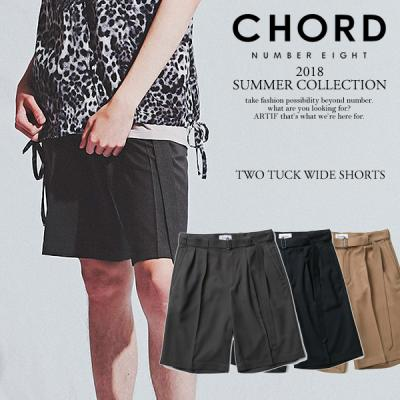 2018 SUMMER 先行予約 5月〜6月入荷予定 CHORD NUMBER EIGHT コードナンバーエイト TWO TUCK WIDE SHORTS chordnumbereight 2018 夏 メンズ ショーツ 送料無料