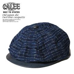 CALEE(キャリー) OLD JAPAN DIE TWO-TONE CASQUETTE【メンズ 帽子 キャスケット】【送料無料】【CALEE キャリー】