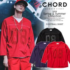 50%OFF SALE セール CHORD NUMBER EIGHT コードナンバーエイト FOOTBALL SHIRT chordnumbereight メンズ シャツ 送料無料 ストリート