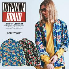 40%OFF SALE セール TOYPLANE トイプレーン L/S BREEZE SHIRT toyplane メンズ シャツ 長袖 ストリート 総柄 送料無料