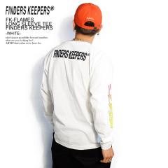 FINDERS KEEPERS ファインダーズキーパーズ FK-FLAMES LONG SLEEVE TEE FINDERS KEEPERS -WHITE- メンズ Tシャツ 長袖 送料無料 ストリート