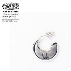 CALEE キャリー PLANE CRESCENT MOON PIERCE【CL-20SS003L&A A】【メンズ アクセサリー ピアス】【送料無料】【CALEE キャリー】