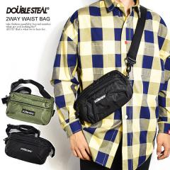 DOUBLE STEAL ダブルスティール 2WAY WAIST BAG メンズ ボディバッグ ウエストバッグ ショルダーバッグ ストリート doublesteal