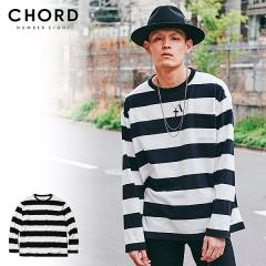 50%OFF SALE セール CHORD NUMBER EIGHT コードナンバーエイト BORDER WIDE LONG SLEEVE chordnumbereight メンズ Tシャツ ストリート