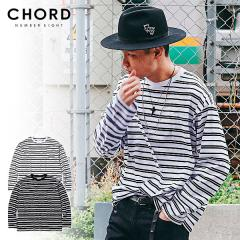 CHORD NUMBER EIGHT コードナンバーエイト RANDOM BORDER WIDE LONG SLEEVE chordnumbereight メンズ Tシャツ 送料無料 ストリート