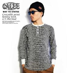 CALEE(キャリー) CROCODILE PRINT HENLEY NECK L/S THERMAL 【メンズ Tシャツ 長袖】【送料無料】【CALEE キャリー】