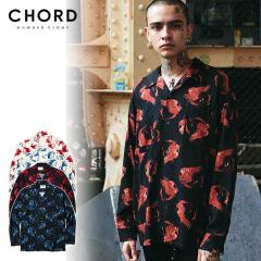 CHORD NUMBER EIGHT コードナンバーエイト HINOTORI OPEN COLLAR LONG SLEEVE SHIRT chordnumbereight メンズ シャツ 送料無料 ストリート