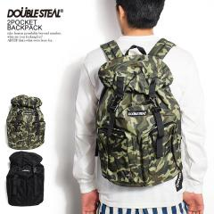 DOUBLE STEAL ダブルスティール 2POCKET BACKPACK メンズ バックパック リュック バッグ 鞄 カバン ストリート