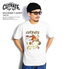 CUTRATE カットレイト SOUVENIR T-SHIRT -WHITE- cutrate メンズ Tシャツ 半袖 送料無料 ストリート