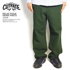 CUTRATE カットレイト RELAX PIQUE WORK PANTS -OLIVE- cutrate メンズ パンツ ロングパンツ 送料無料 ストリート