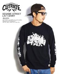 CUTRATE カットレイト SESAME STREET L/S T-SHIRT -BLACK- cutrate メンズ Tシャツ ロンT コラボ 送料無料 ストリート
