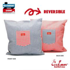 COOKMAN クックマン CUSHION POCKET COVER REVERSIBLE -GINGHAM RED & NAVY- メンズ クッションカバー ストリート cookman ネコポス配送250円