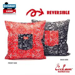 COOKMAN クックマン CUSHION POCKET COVER REVERSIBLE -PAISLEY RED & BLACK- メンズ クッションカバー ストリート cookman ネコポス配送250円