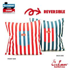 COOKMAN クックマン CUSHION POCKET COVER REVERSIBLE -WIDE STRIPE NAVY & RED- メンズ クッションカバー ストリート cookman ネコポス配送250円