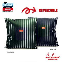COOKMAN クックマン CUSHION POCKET COVER REVERSIBLE -STRIPE D/GREEN & NAVY- メンズ クッションカバー ストリート cookman ネコポス配送250円