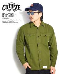 CUTRATE カットレイト HEAVY NELL CPO SHIRT -OLIVE- cutrate メンズ シャツ CPOシャツ 送料無料 ストリート