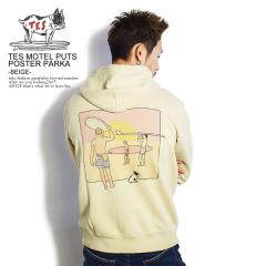 The Endless Summer エンドレスサマー TES MOTEL PUTS POSTER PARKA -BEIGE- メンズ パーカー スウェット 送料無料 ストリート tes